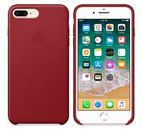 Кожаный чехол для iPhone 7 Plus (красный)