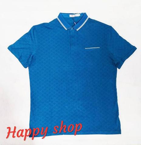 Синяя футболка-поло
