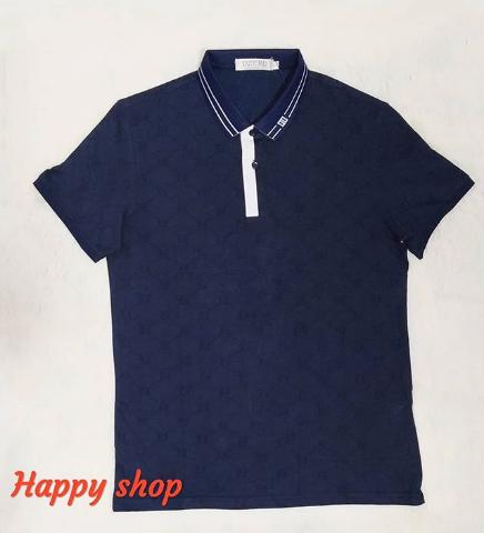 Темно-синяя футболка-поло