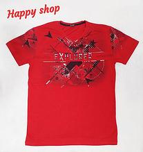 Мужская красная футболка с принтом
