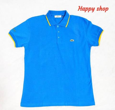 Мужская голубая футболка-поло