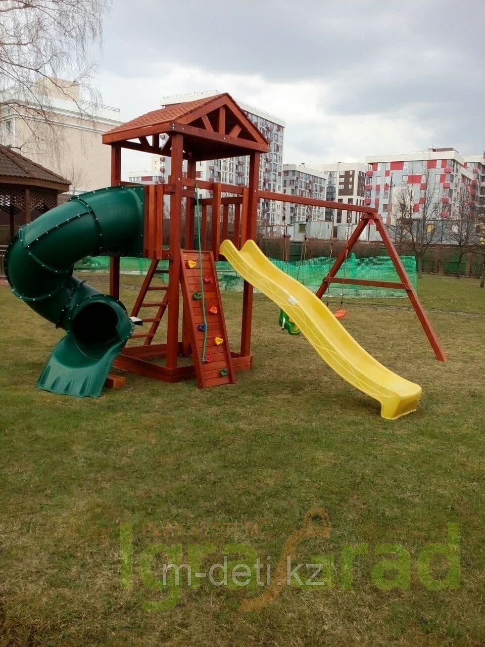Детская площадка  Панда Фани с винтовой трубой