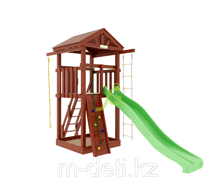 Детские игровые площадки  Панда Фани Tower скалодром