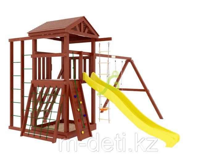 Детские игровые площадки   Панда Фани Fort с сеткой