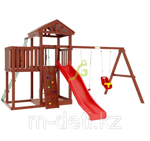Детские игровые площадки  Панда Фани с балконом и сеткой