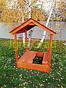 Детская деревянная песочница с крышей, фото 3