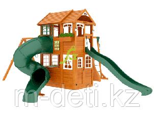 Детская площадка   Клубный домик 2 с трубой и рукоходом Luxe