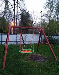 """Качельный модуль """"Гнездо"""" из дерева"""