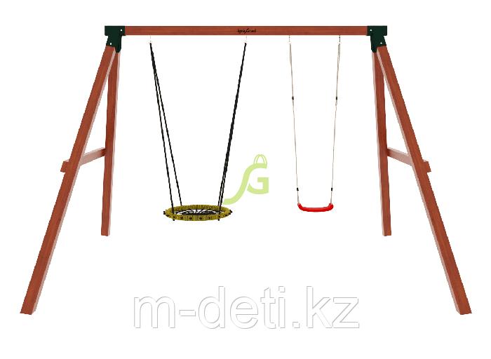 Качельный модуль Гнездо деревянные