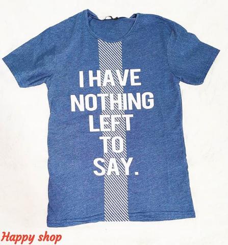 Мужская синяя футболка с надписью