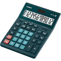 Калькулятор настольный CASIO GR-12C-DG-W-EP зеленый