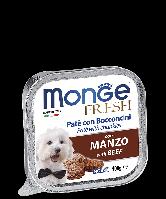 Влажный корм Monge fresh Dog паштет для собак с телятиной 100 г