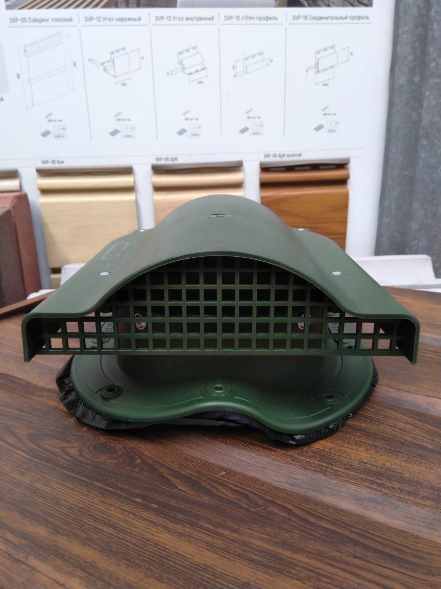 Вентилятор подкровельного пространства Р51 с проходным элементом для кровли из металлочерепицы зелёный