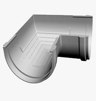 Угол желоба 90° 120/80 мм DACHA Döcke (Дача Дёке) Белый