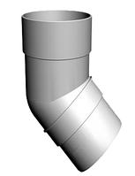 Колено трубы 45° 80x3000 мм DACHA Döcke (Дача Дёке) Белый