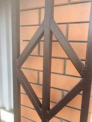 Покраска ворот грунт эмаль 3 в 1 коричневая 3