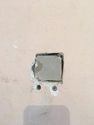 Зашпаклевали дыру в стене масленно клеевой шпаклевкой 1