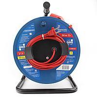 Силовой удлинитель на катушке Power Cube PC-B1-K-50 10 А/22 кВт 50 м 1 розетка б/з красно-синий