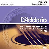 Струны для акустической гитары DAddario EJ26