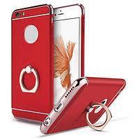Пластиковый чехол JOYROOM с кольцом для iPhone 6/6S (красный)
