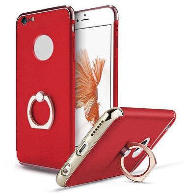 Пластиковый чехол JOYROOM с кольцом для iPhone 7 (красный)