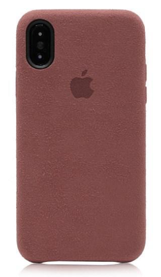 Чехол Alcantara Cover для iPhone X/ iPhone 10 (розовый)