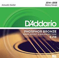 Струны для акустической гитары D'Addario EJ18