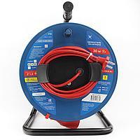 Силовой удлинитель на катушке Power Cube PC-B1-K-30 10 А/22 кВт 30 м 1 розетка б/з красно-синий
