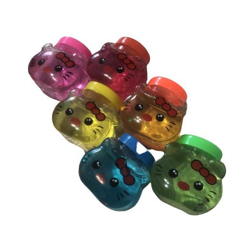Подарок - слайм «Котик» разных цветов (1шт.)