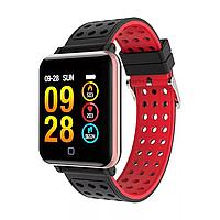 Смарт часы M19 фитнес-браслет (красный)