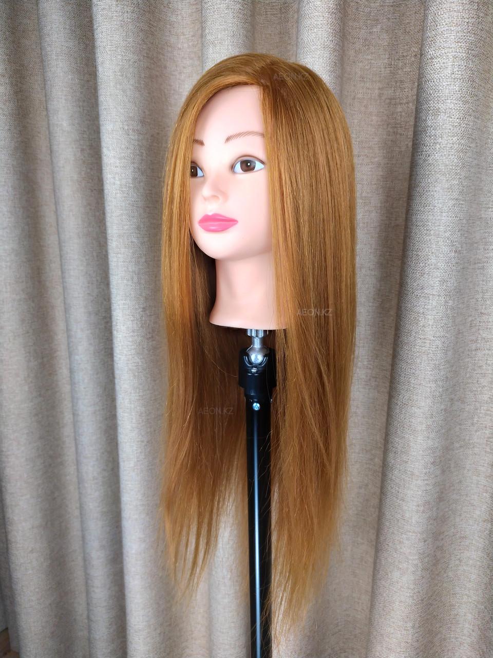 Голова-манекен русый волос натуральный (60%) - 60 см