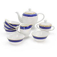 Аружан чайный сервиз с пиалами (ярко-синий)