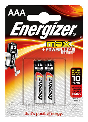 Элемент питания LR03 AAA Energizer MAX  Alkaline 2 штуки в блистере., фото 2