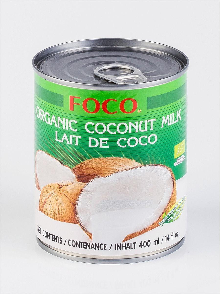 Органическое кокосовое молоко FOCO  (жирность10-12%) 400мл