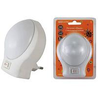 """TDM Ночник """"Овал"""" с выключателем, белый, 0,5 Вт, 220 В"""