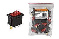 TDM Клавишный переключатель YL-211-02 черный корпус красная клавиша 2 положения 1з