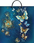 """Пакет с пластиковой ручкой ПВД 44х40 см, 100мкм, """"Золотые бабочки"""""""