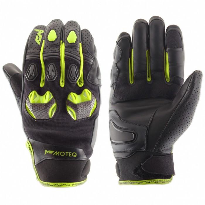 Перчатки кожаные Stinger флуоресцентно-желтые, L