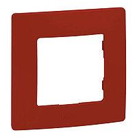 Рамка 1п Legrand Etika 672531, красный