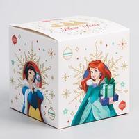 Коробка подарочная складная 'Happy new year', Принцессы, 9 x 9 x 9 см (комплект из 2 шт.)