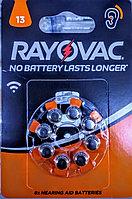 Батарейки для слуховых аппаратов 13AU 4/PR48-1.45 RAYOVAC