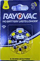 Батарейки для слуховых аппаратов 10AU 461074 RAYOVAC 8шт