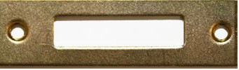 Планка ответная д/замка, 55х16мм, личинка 29х6мм, латунь полир.