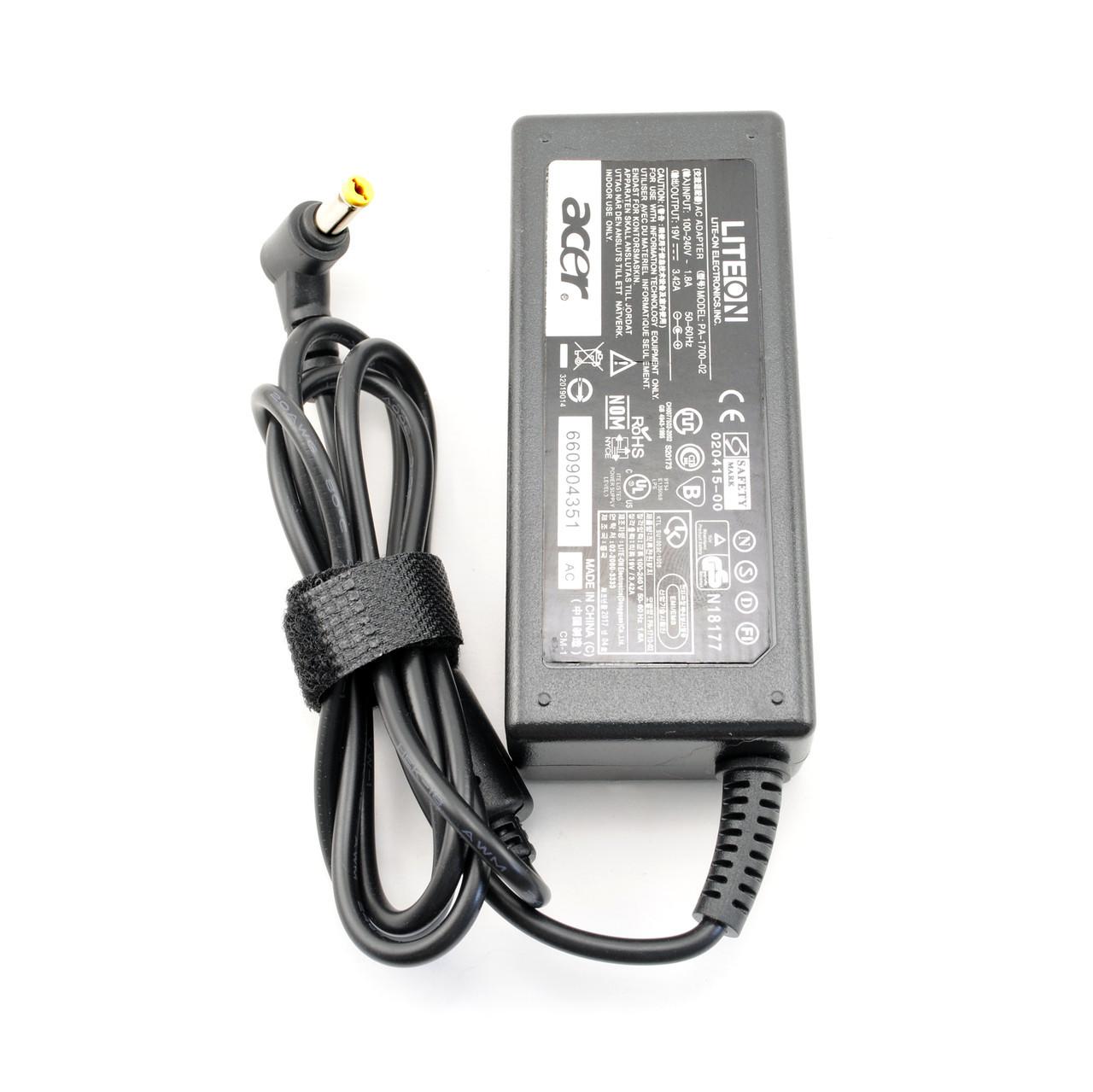 Зарядка для ноутбука Acer 19v, 3.42А, 5.5x1.7мм