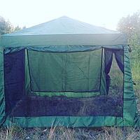 Водостойкий Шатёр-кухня для дачи 3.2 х 3.2 метра с москитной сеткой для дачи