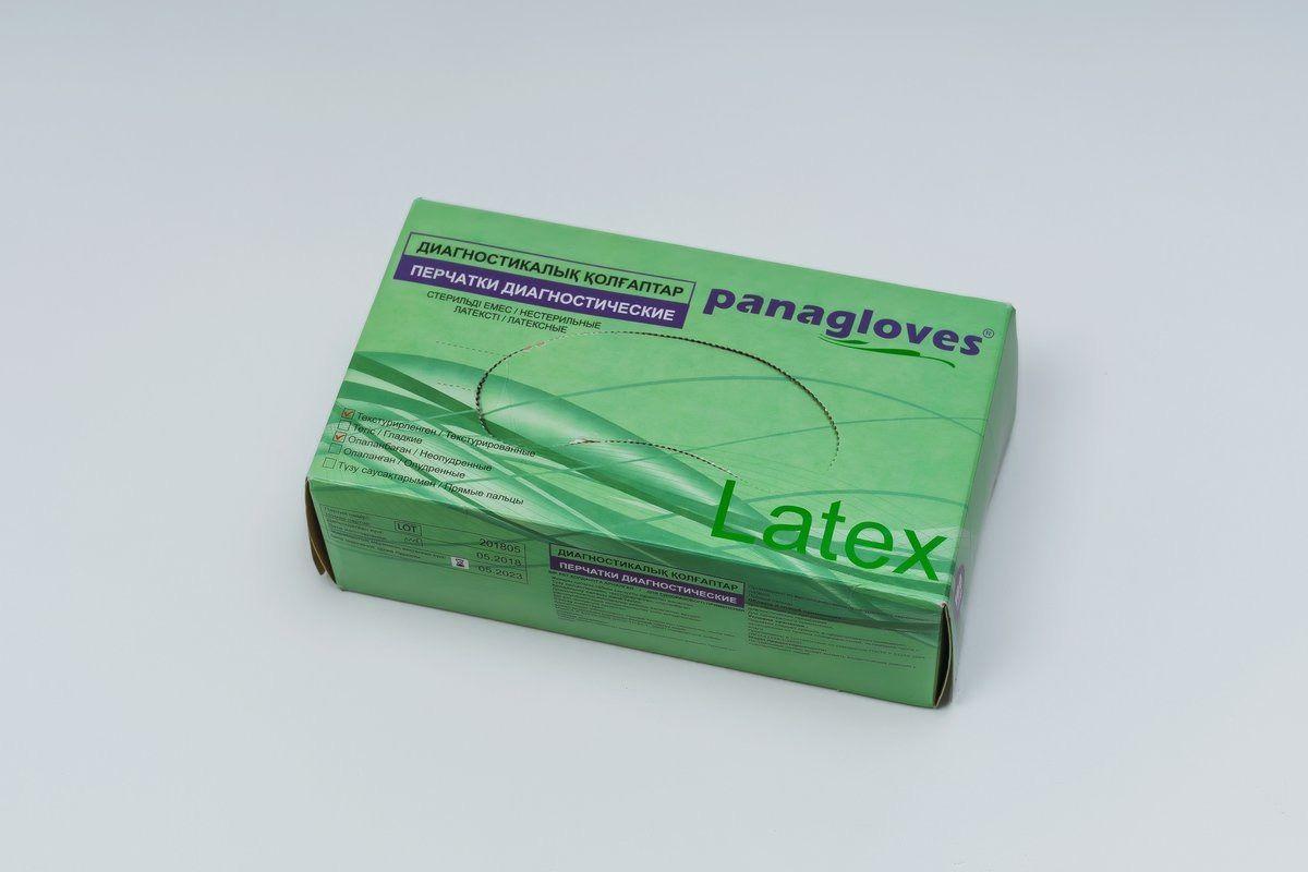 """Перчатки текстурированные латексные """"Panagloves"""" 50 пар размер M(7-8) - фото 2"""