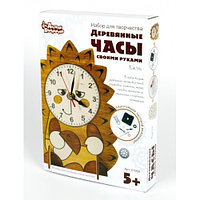 Деревянные часы своими руками «Ёжик», фото 1