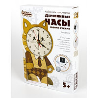 Деревянные часы своими руками «Котёнок», фото 1