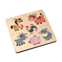 Пазл деревянный «Домашние животные»