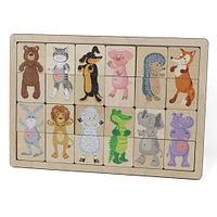 Пазл деревянный «Зоопарк»